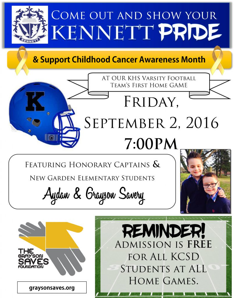 Sept 2 2016 Football Flyer