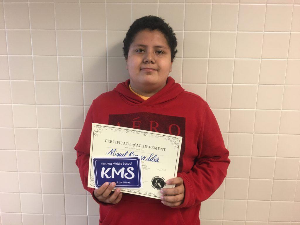 Miguel Romero Silva, seventh grade