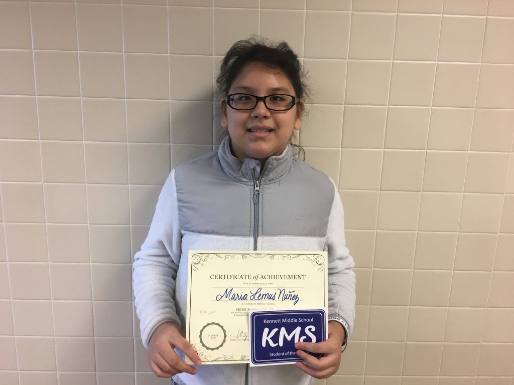 Maria Lemus Nuñez, sixth grade
