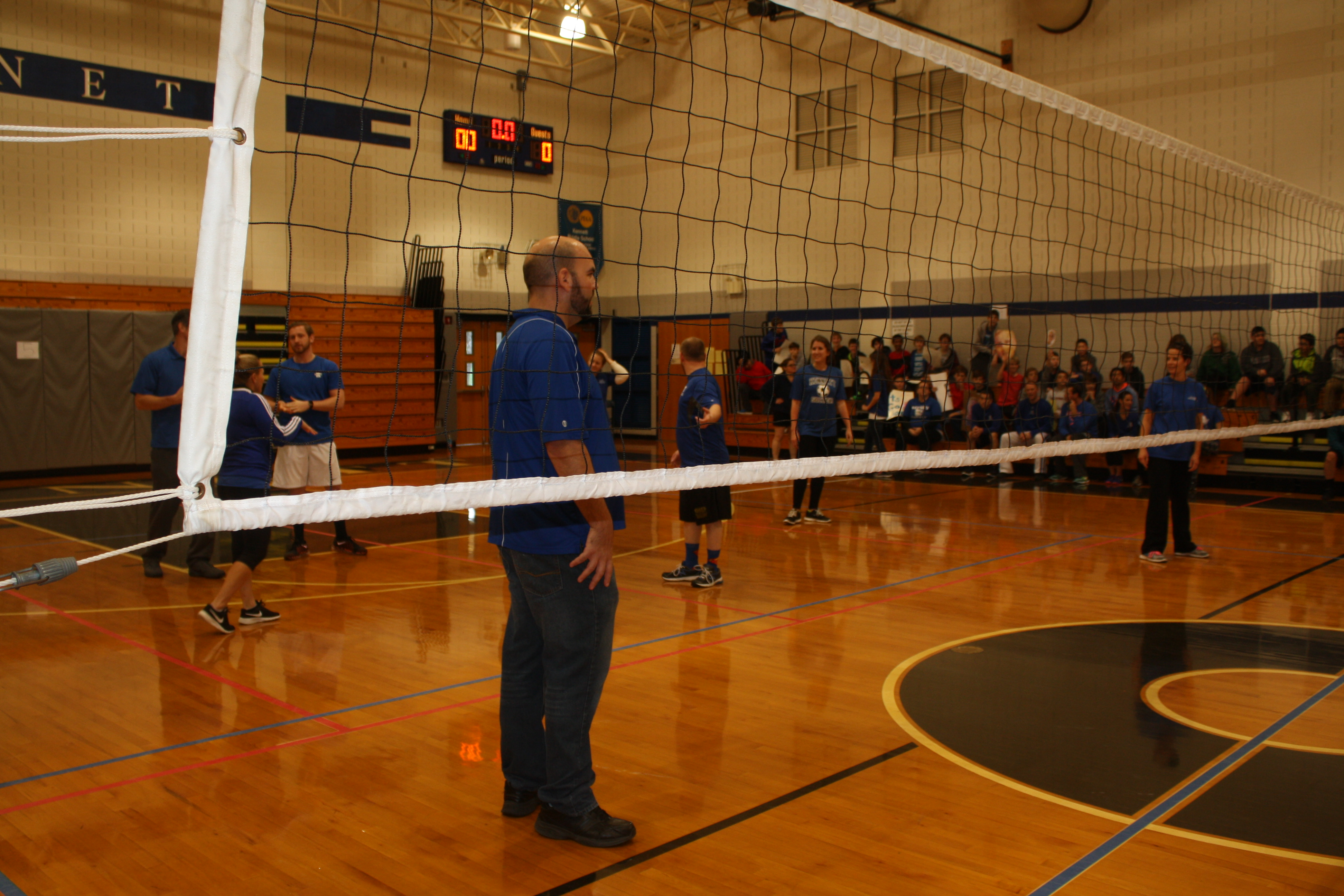 team team on the volleyball court