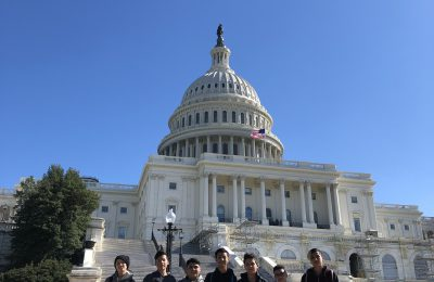 Students in front of the Capitol Building